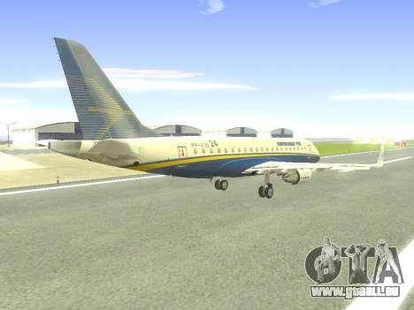 Embraer 175 HOUSE pour GTA San Andreas vue de dessus
