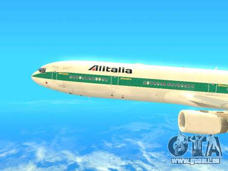 McDonnell Douglas MD-11 Alitalia pour GTA San Andreas laissé vue