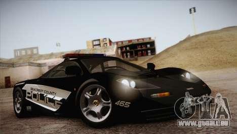 McLaren F1 Police Edition pour GTA San Andreas