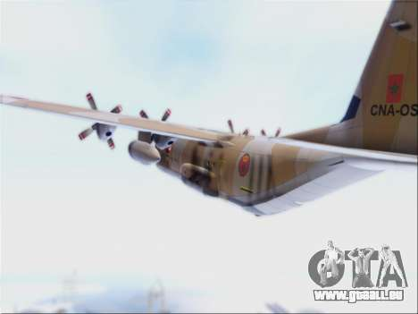 C-130 Hercules Royal Moroccan Air Force für GTA San Andreas Rückansicht