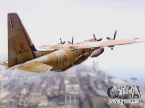 C-130 Hercules Royal Moroccan Air Force für GTA San Andreas rechten Ansicht