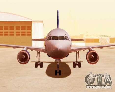 Airbus A320-200 Aeroflot für GTA San Andreas linke Ansicht