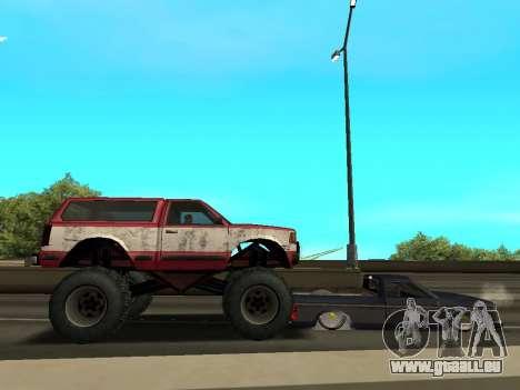 Street Monster pour GTA San Andreas vue de dessous