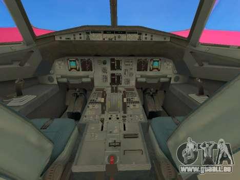 Airbus A320-200 WizzAir für GTA San Andreas Innenansicht