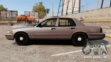 Ford Crown Victoria 2008 LCPD Detective [ELS] pour GTA 4 est une gauche