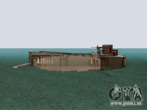 Landing Craft für GTA San Andreas linke Ansicht