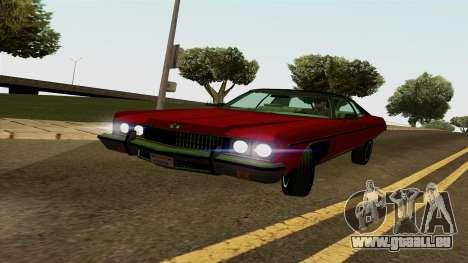 Chevrolet Caprice Coupe 1973 pour GTA San Andreas laissé vue