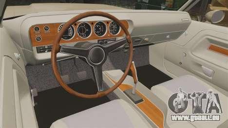 Dodge Challenger RT 1972 für GTA 4 Innenansicht