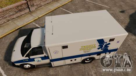 Brute Speedo TEMS Ambulance [ELS] pour GTA 4 est un droit