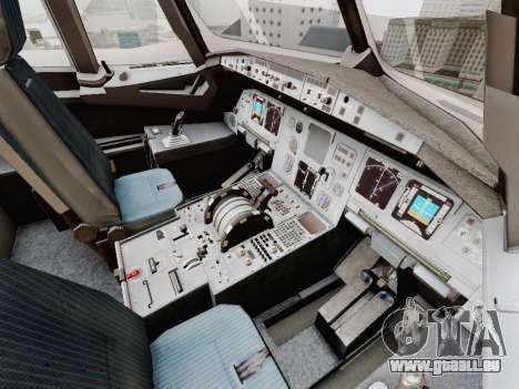 Airbus A320-211 China Eastern pour GTA San Andreas vue de dessous
