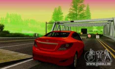 Hyndai Solaris pour GTA San Andreas vue de droite