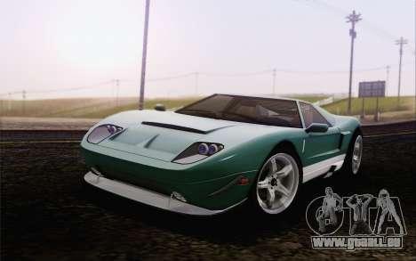 Insipide Bullet GT из GTA 5 pour GTA San Andreas sur la vue arrière gauche