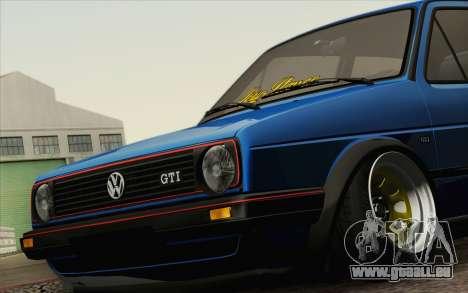 Volkswagen Golf MK2 LowStance für GTA San Andreas rechten Ansicht