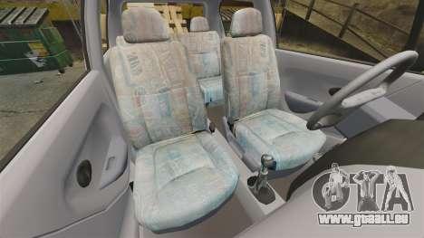 Daewoo Matiz SE 1998 pour GTA 4 est une vue de l'intérieur