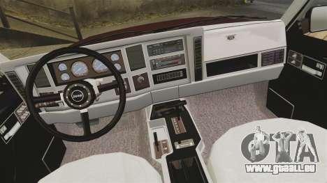 Jeep Carver 6X6 für GTA 4 Innenansicht
