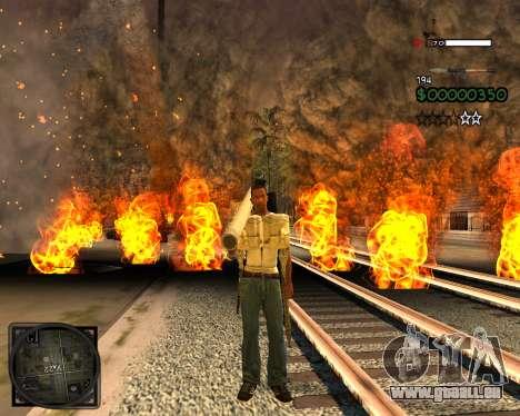 C-HUD Lite v2.0 pour GTA San Andreas deuxième écran
