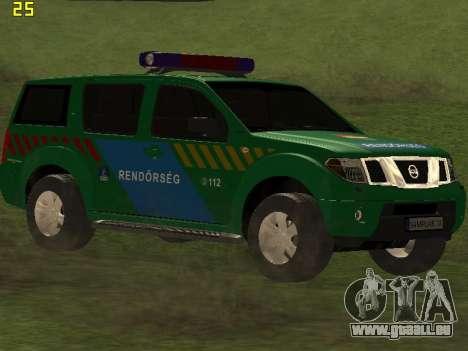 Nissan Pathfinder Police für GTA San Andreas Rückansicht