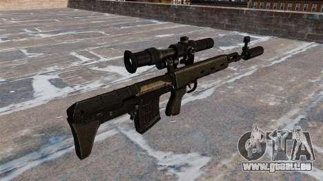 SVD fusil de sniper raccourcie pour GTA 4 secondes d'écran