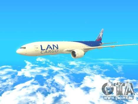Boeing 777 LAN Cargo für GTA San Andreas linke Ansicht