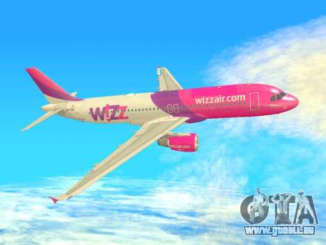 Airbus A320-200 WizzAir für GTA San Andreas Unteransicht