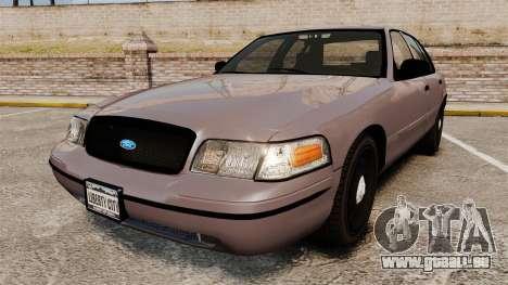 Ford Crown Victoria 2008 LCPD Detective [ELS] pour GTA 4