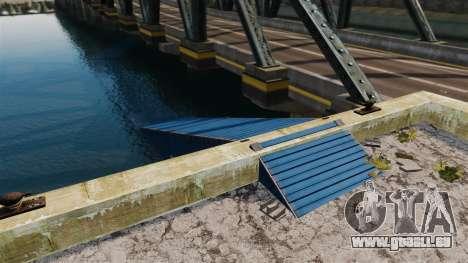 Die Straße unter der Brücke für GTA 4 Sekunden Bildschirm