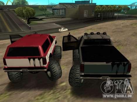 Street Monster für GTA San Andreas Rückansicht