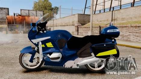 BMW R1150RT Gendarmerie [ELS] pour GTA 4 est une gauche