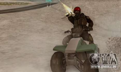 Kopassus Skin 1 pour GTA San Andreas deuxième écran