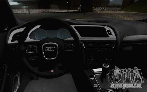 Audi S4 2010 pour GTA San Andreas vue arrière