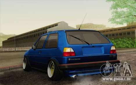 Volkswagen Golf MK2 LowStance für GTA San Andreas linke Ansicht