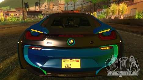 BMW I8 2013 für GTA San Andreas Innenansicht