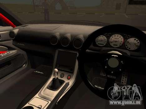 Nissan Silvia S15 Team Dragtimes pour GTA San Andreas vue intérieure
