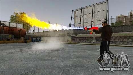 Le lance-flammes MX-295 pour GTA 4 quatrième écran