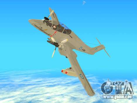 FMA IA-58 Pucara für GTA San Andreas rechten Ansicht
