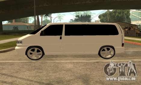 Volkswagen T4 Transporter pour GTA San Andreas laissé vue