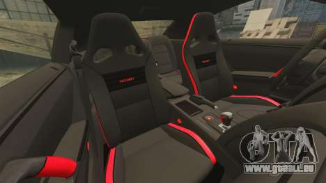 Nissan GT-R 2012 Black Edition NFS Underground für GTA 4 Seitenansicht