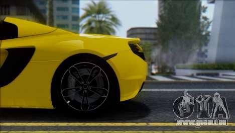 McLaren MP4-12C Spider für GTA San Andreas Seitenansicht