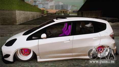 Honda Jazz RS Street Edition pour GTA San Andreas laissé vue