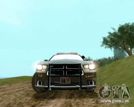 Dodge Charger 2012 SAHP für GTA San Andreas zurück linke Ansicht