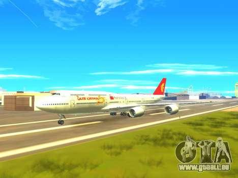 Boeing 747 Air China pour GTA San Andreas vue de dessous
