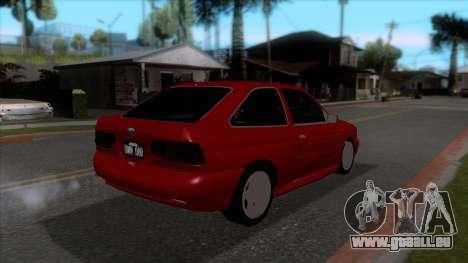 Ford Escort 1996 für GTA San Andreas rechten Ansicht