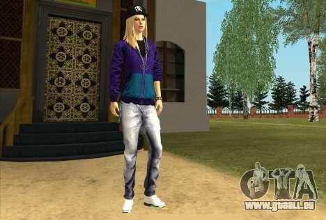 Skin Avril Lavigne pour GTA San Andreas