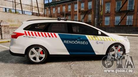 Ford Focus 2013 Hungarian Police [ELS] für GTA 4 linke Ansicht