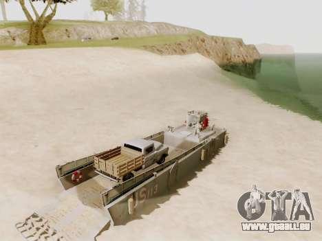 Landing Craft für GTA San Andreas obere Ansicht
