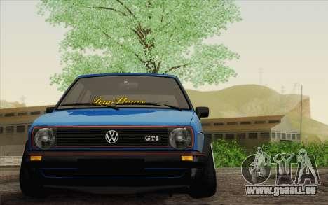 Volkswagen Golf MK2 LowStance für GTA San Andreas zurück linke Ansicht