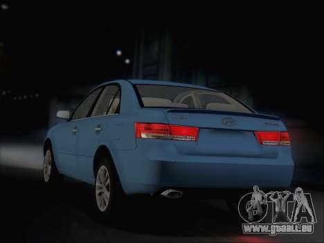 Hyundai Sonata 2009 pour GTA San Andreas vue de droite