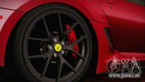 Ferrari 599 GTO 2011 pour GTA San Andreas vue de droite