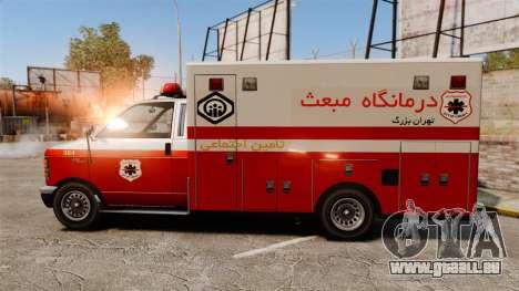 Iranische Lack-Ambulanz für GTA 4 linke Ansicht