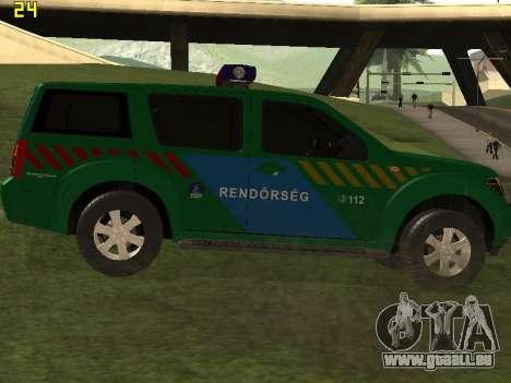 Nissan Pathfinder Police pour GTA San Andreas vue de droite
